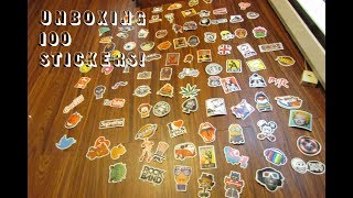 UNBOXING 100 STICKERS!!!!