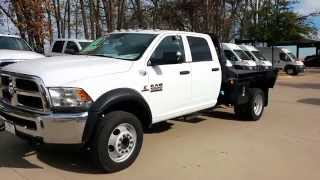Flatbed Truck 2014 Ram 5500 crew 4x4 Aisin Transmission TDY Sales