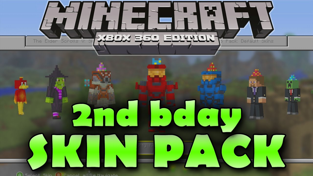 Minecraft: Xbox 360 Edition 2nd Birthday Skin Pack (All ...