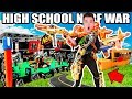 BOX FORT HIGH SCHOOL NERF WAR!! 📦🚌