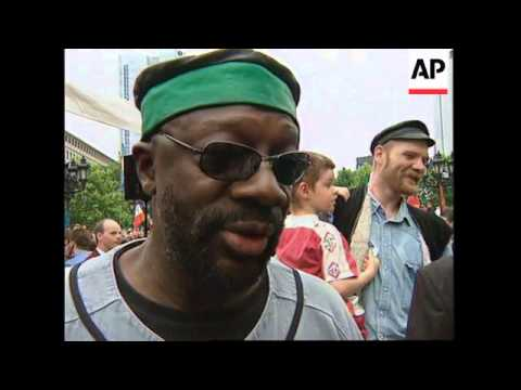 GERMANY: SCIENTOLOGISTS DEMONSTRATE FOR RELIGIOUS FREEDOM