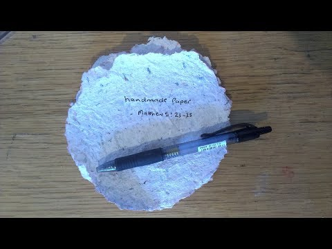 HOW TO MAKE RECYCLED PAPER WITHOUT WINDOW SCREENS | DIY HOMEMADE PAPER | Robert Henderson | alreadiy