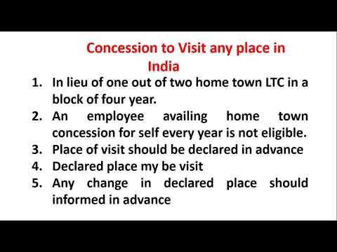 Leave Travel Concession Part-II