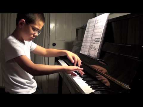 George age 10  Plays 'The Lark' by Balakirev, at home October 2011