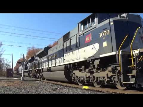 NS 1070, the Wabash Heritage Unit leads CA-11 with AWESOME K5LLA! 11/19/16