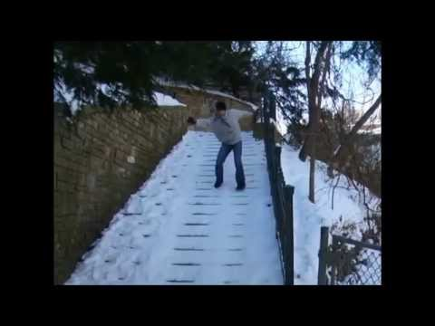 Falling on Ice Compilation slipping and sliding Winter fails