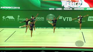Mexico (MEX) - 2018 Aerobic Worlds, Guimaraes (POR) - Group Qualifications