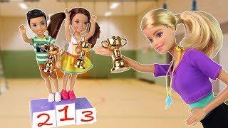 Школьные Соревнования по Гимнастике Мультик #Барби Школа Играем в Куклы
