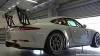 Porsche 991 GT3 Cup   Start up & Accelerations!