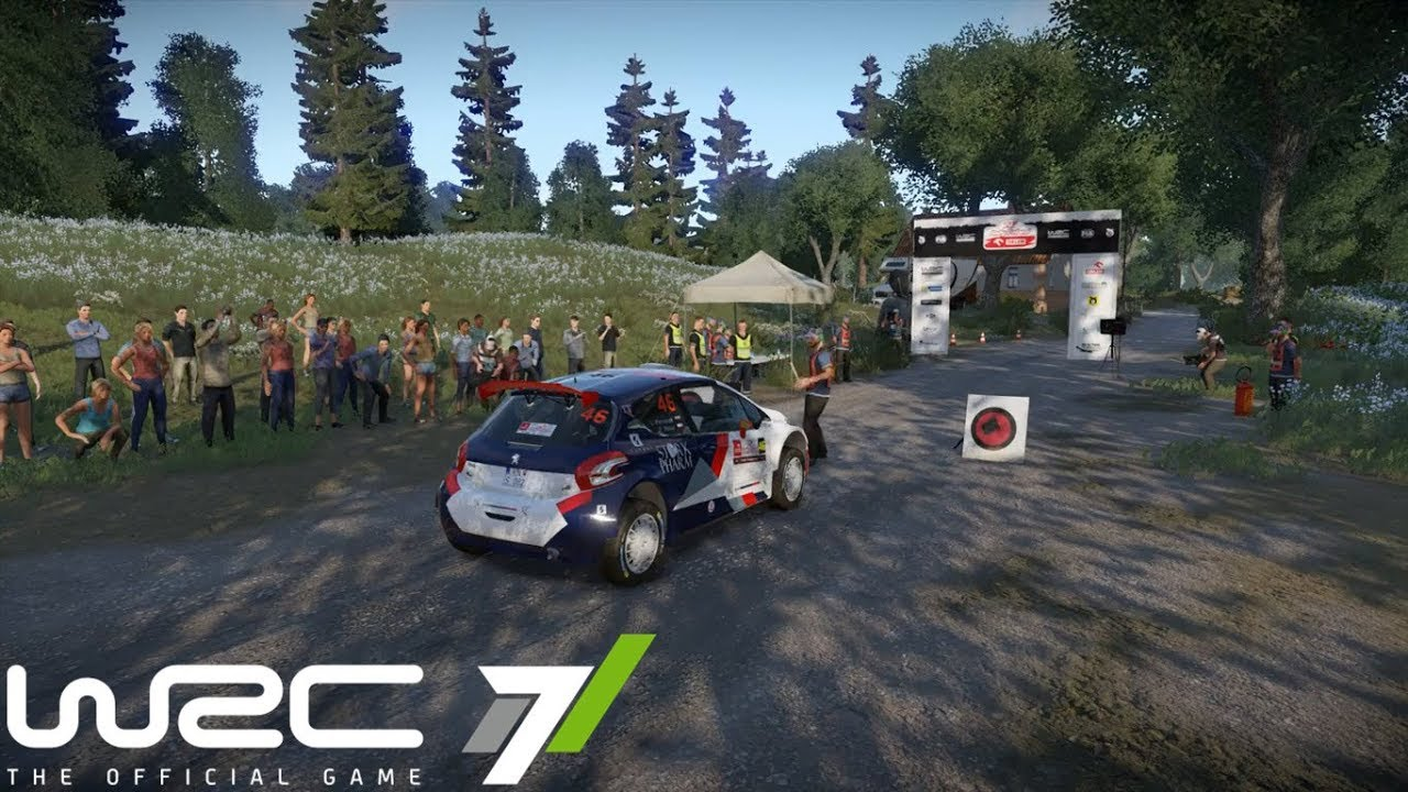 wrc 7 ps4 pro gameplay orlen 74th rally poland. Black Bedroom Furniture Sets. Home Design Ideas