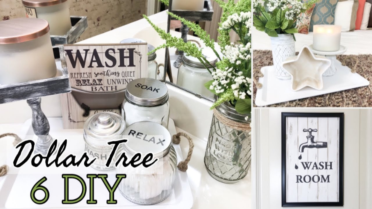 Farmhouse Bathroom Decor Dollar Tree Diy Youtube
