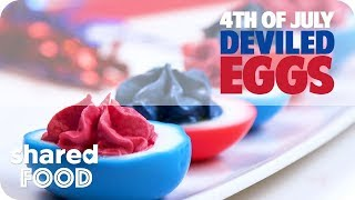 4th of July Patriotic Deviled Eggs
