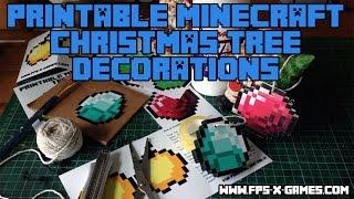 Minecraft Christmas Tree Decorations