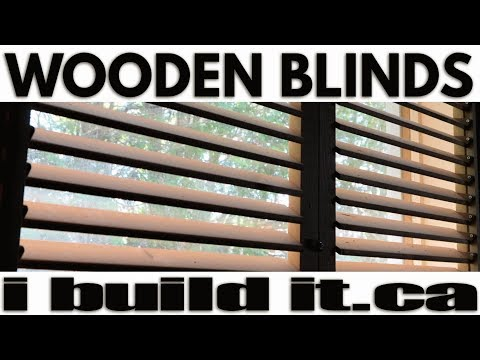 How To Make Plantation Shutters / Wooden Shutters