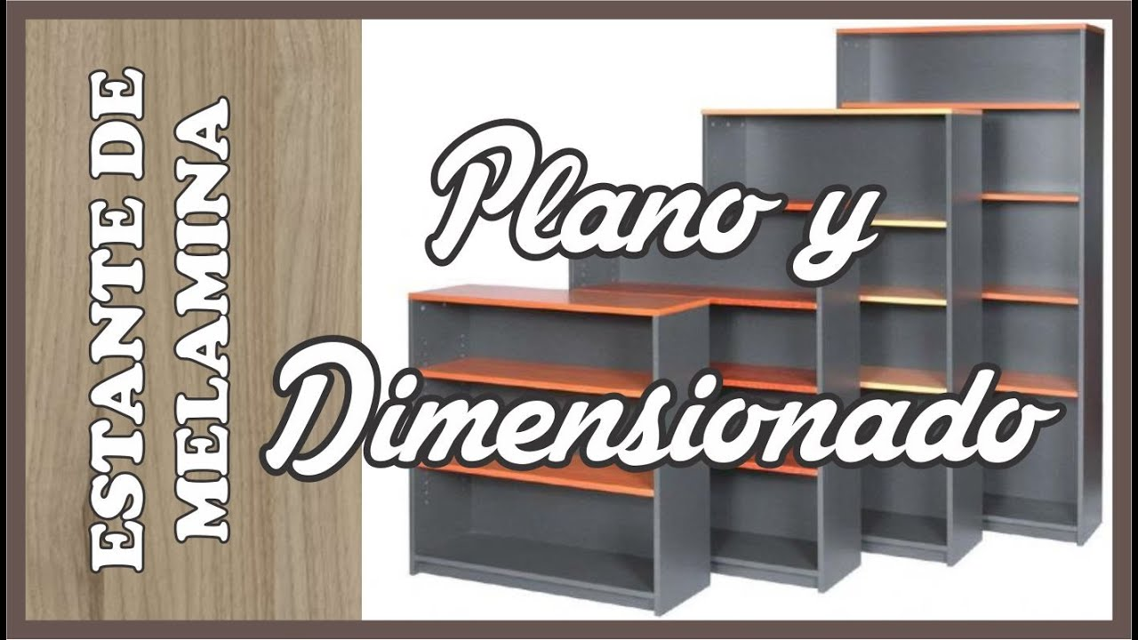 Plano de un mueble de melamina clase 02 youtube for Muebles de melamina