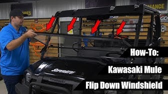 How To Install Flip Down Windshield | Kawasaki Mule | SuperATV