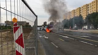 Auto in brand aan Kinepolis Antwerpen