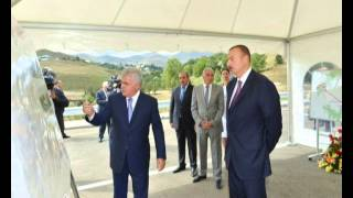 İlham Aliyev attends opening of bridge over Cholpan River in Gadabay