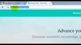 كيفية التسجيل على موقع Research Gate