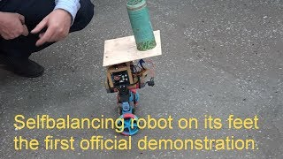 Selfbalancing robot on its feet the first official demonstration.