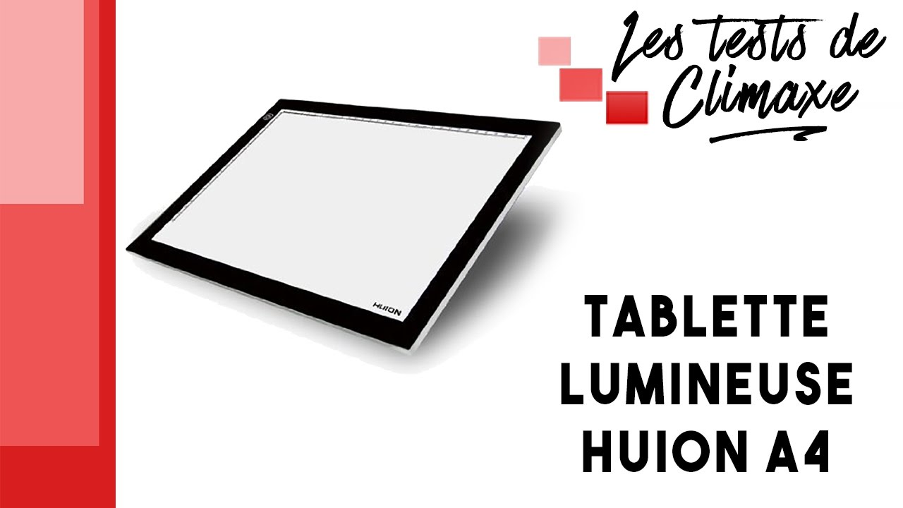 Test D Une Tablette Lumineuse Huion A4 Pour Le Dessin Youtube