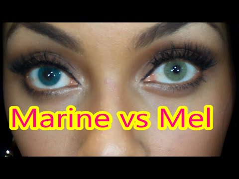 Solotica Lens: Marine vs Mel Comparison