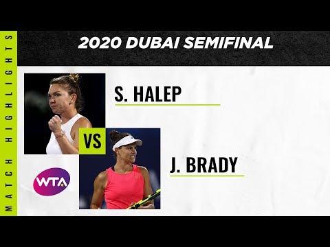 Simona Halep Vs. Jennifer Brady | 2020 Dubai Semifinal | WTA Highlights