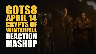 GoTS8 APRIL 14 CRYPTS OF WINTERFELL Reactions Mashup