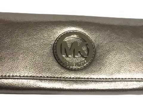 08f481b6bb26 New Michael Kors Fulton Flap Continental Nickel Leather Clutch Wallet  Product images