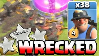 Clash Of Clans - PRO MINER 3 STAR LEADERBOARDS!! (Clutch gameplay)