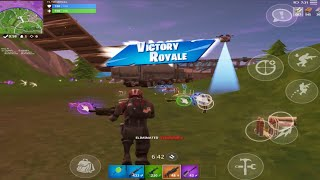 Fortnite Mobile // PREMIER SEASON 5 SOLO WIN!! Nouveau planeur parapluie SECRET ?
