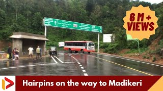 Hairpins on the way to Madikeri, Karnataka