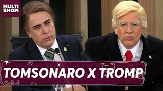 Tomsonaro e Tromp se encontram na sessão do plenário | Tom Cavalcanti | Multi Tom | Humor Multishow