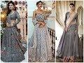 Exclusive Grey Bridal Lehenga Designs 2018-2019
