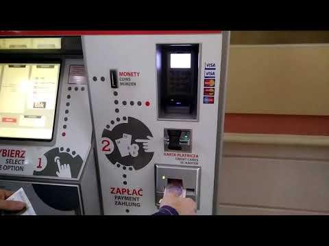 Как купить билет на поезд в Польше (в автомате)
