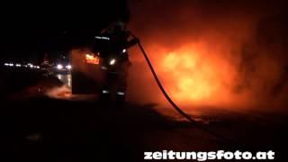 Fahrzeugvollbrand auf der A12 Inntalautobahn