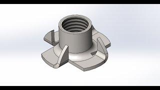 solidworks. Создание усовой гайки М10
