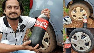 Car tire wash with coca cola | Nitto Rai