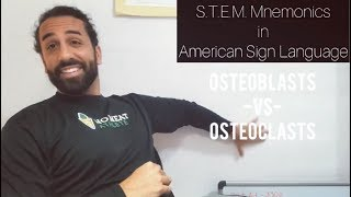 ASL Mnemonic: Osteoblasts or Osteoclasts? | Cell Biology of Bones