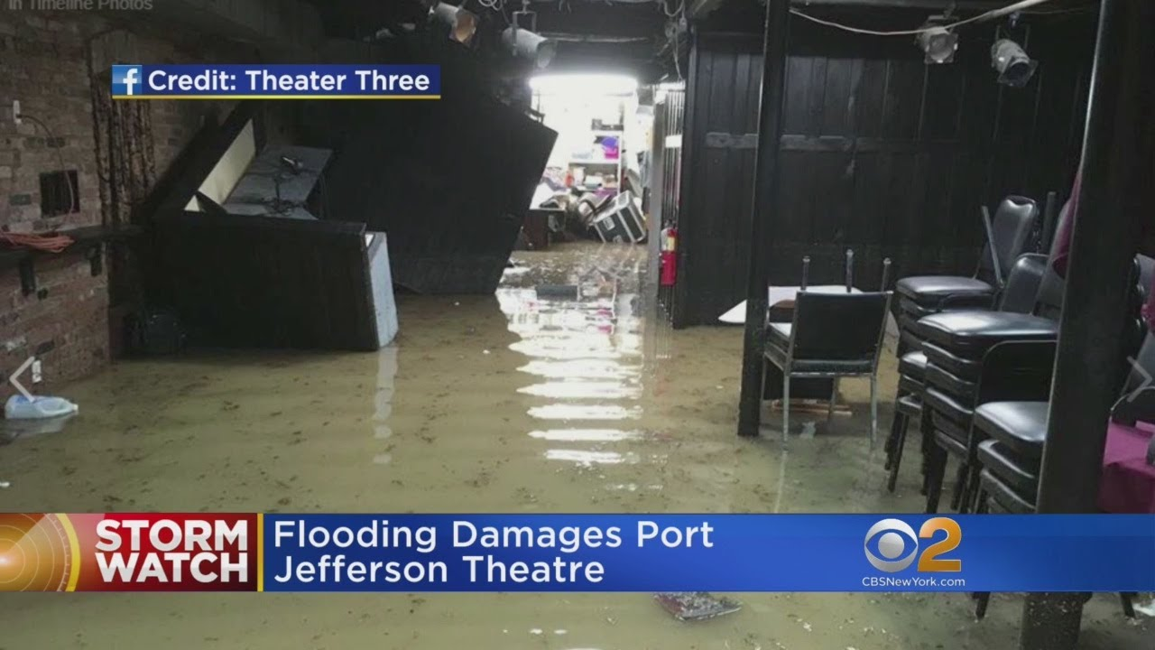 Rains Flood Theater In Long Island