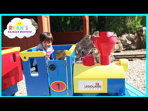 Legoland Amusement Park for Kids Car and train rides! Family fun children play area