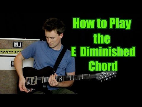 how to play the e diminished chord