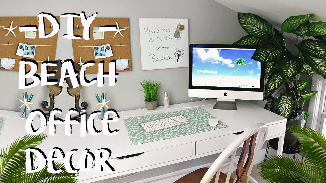 Diy Beach Decor Office Makeover Pinterest Inspired