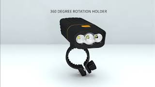 VICTGOAL USB RECHARGEABLE BIKE LIGHT SET LED FLASHLIGHT TORCH