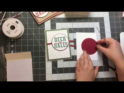 Stampin' Up Trimmer Tricks to make Diamond Background and Carols of Christmas !