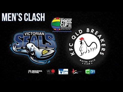 2016 Pride Cup - Mens Victorian Seals Vs KFC QLD Breakers - Australian National Water Polo
