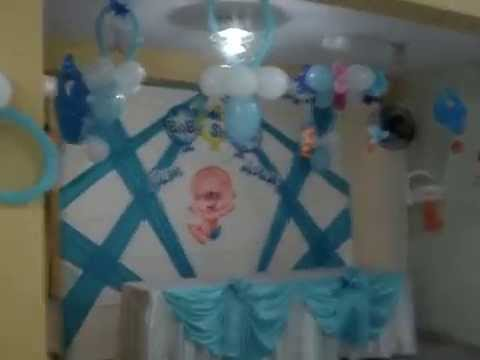 Decoraci 243 n con globos para baby shower youtube