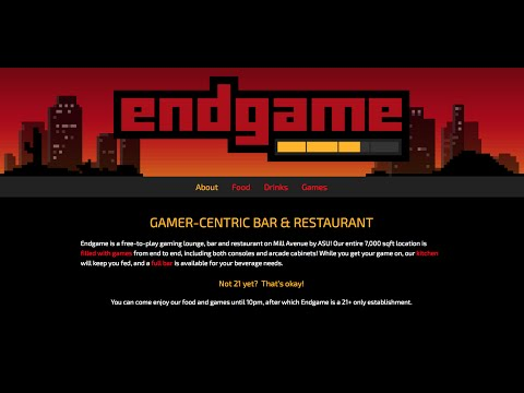 ENDGAME in Tempe Az  is a Free-to-Play Gaming Lounge, Bar and Restaurant. Map at End of Video