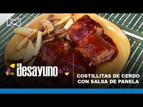 El Desayuno Costillas De Cerdo Con Salsa De Panela Youtube