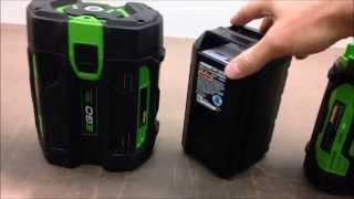 Ego vs. Echo - Batteries, 2Ah for Blowers and Trimmers
